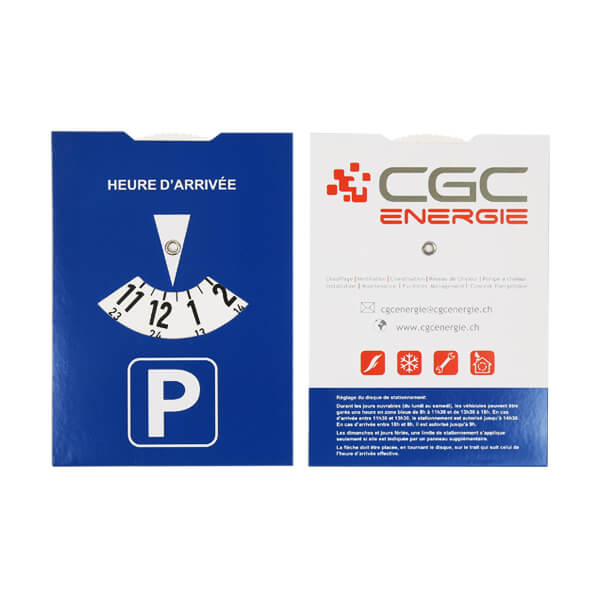 cheap custom printing paper parking timer