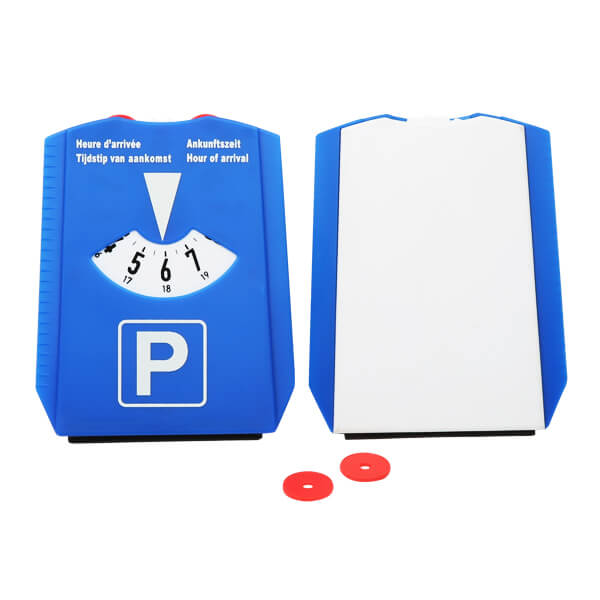 parking disc ice scraper with chips