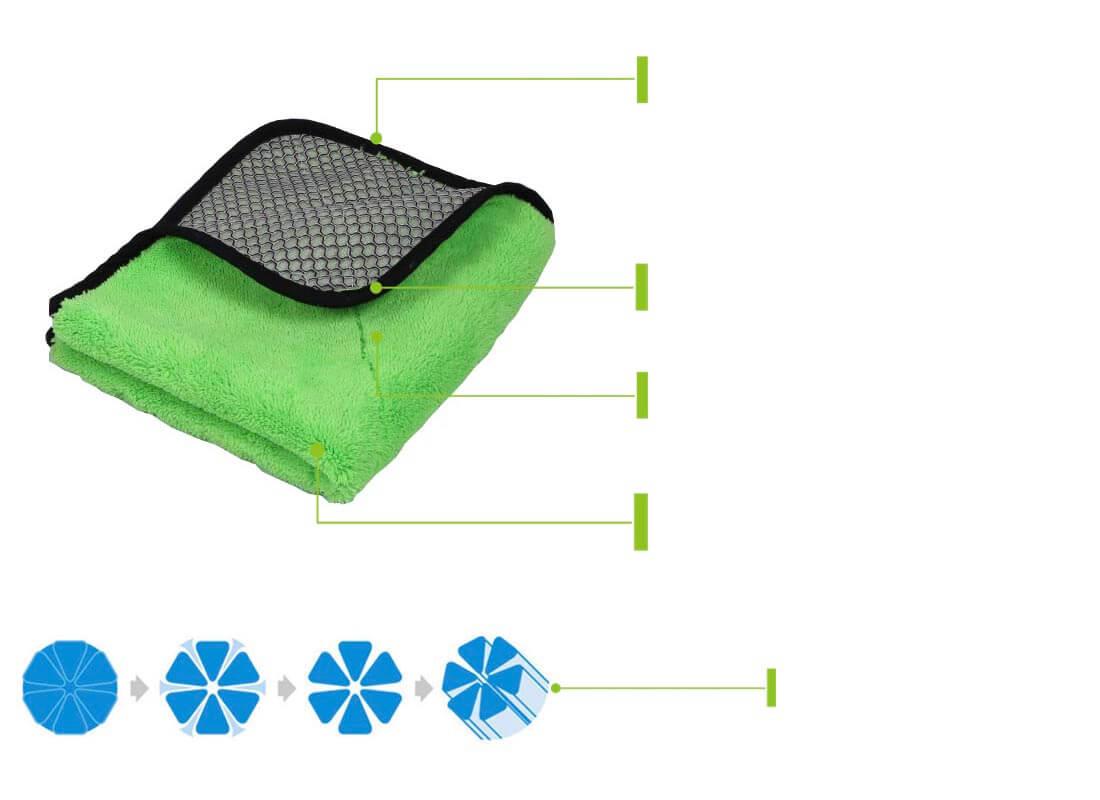 Premium mesh microfiber bug towel