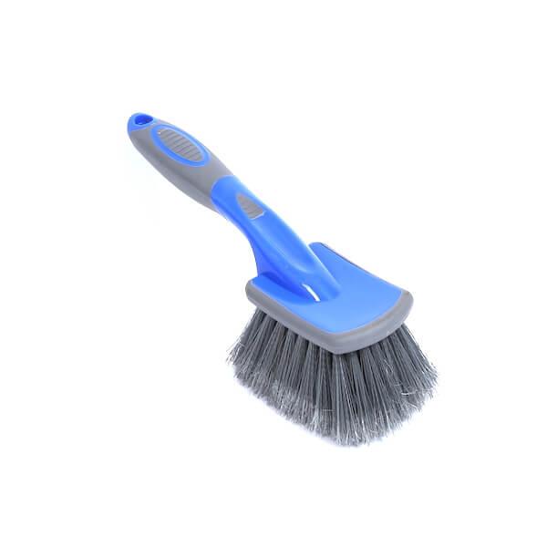 Soft bristle car wheel brush