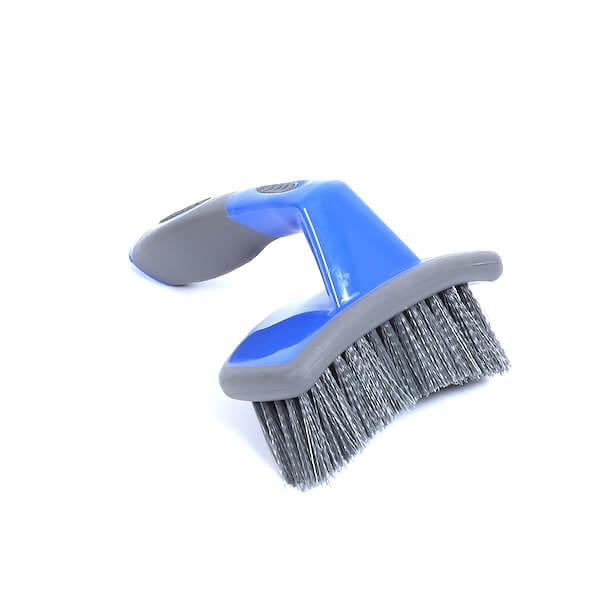Stiff bristle tire cleaning brush