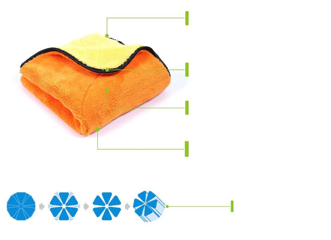 Super absorbent detailing microfiber towels