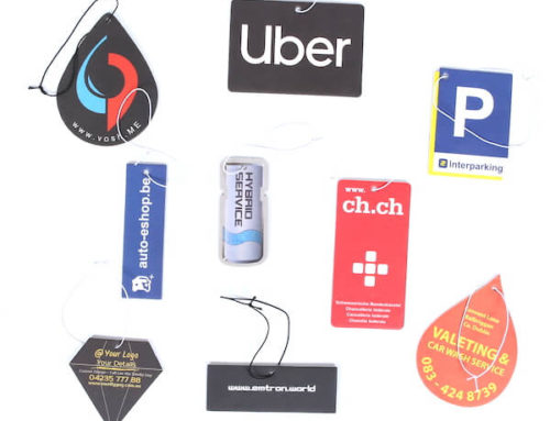 Custom hanging car air fresheners company logo