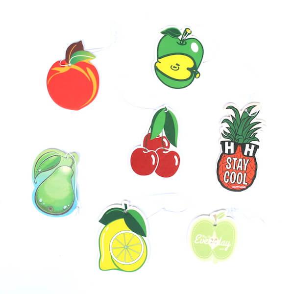 custom fresh fruit car air freshener