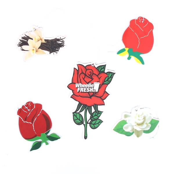 customized rose car air freshener