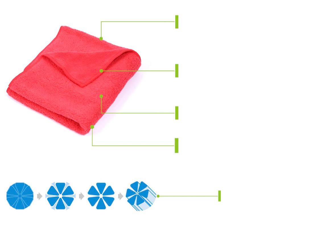 premium plush microfiber polishing towels
