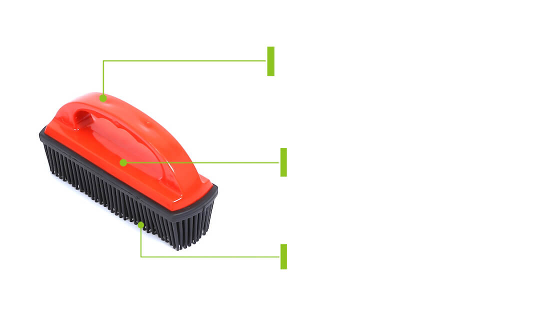 rubber lint and hair removal brush