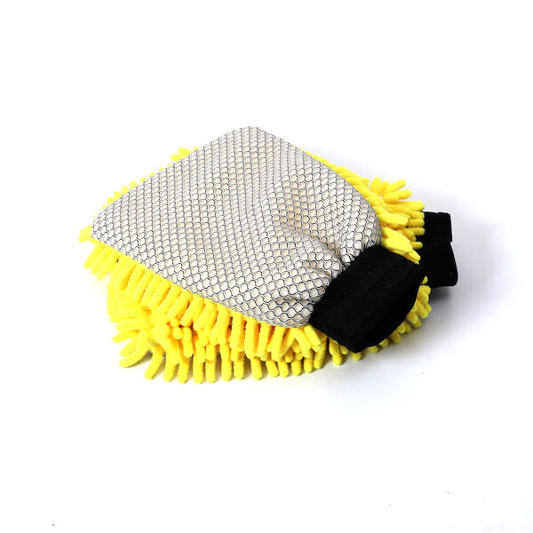 2 in 1 microfiber scrub wash mitt
