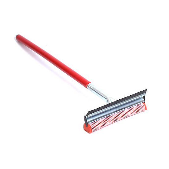 8 metal squeegee wooden handle