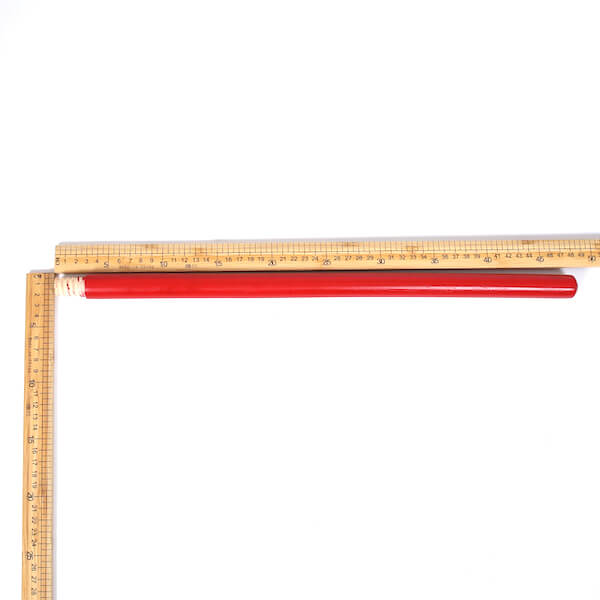 metal squeegee red wooden handle