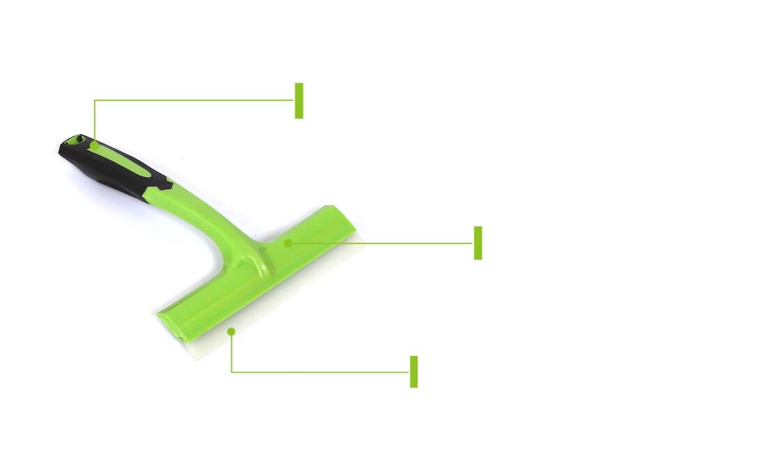 plastic silicone window cleaner squeegee