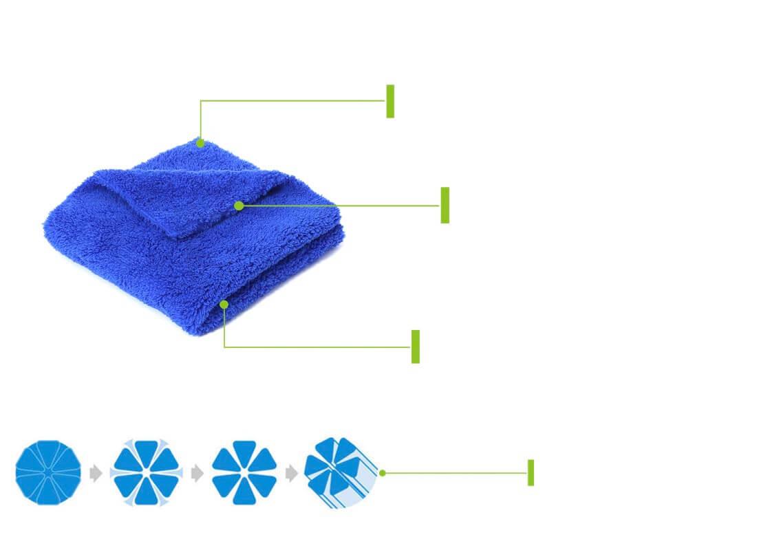 500gsm no edge towel