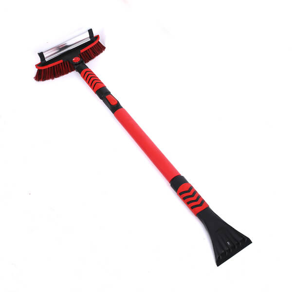 Telescopic snow brush ice scraper