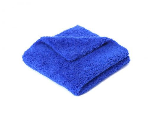 Fluffy edgeless microfiber detailing towel