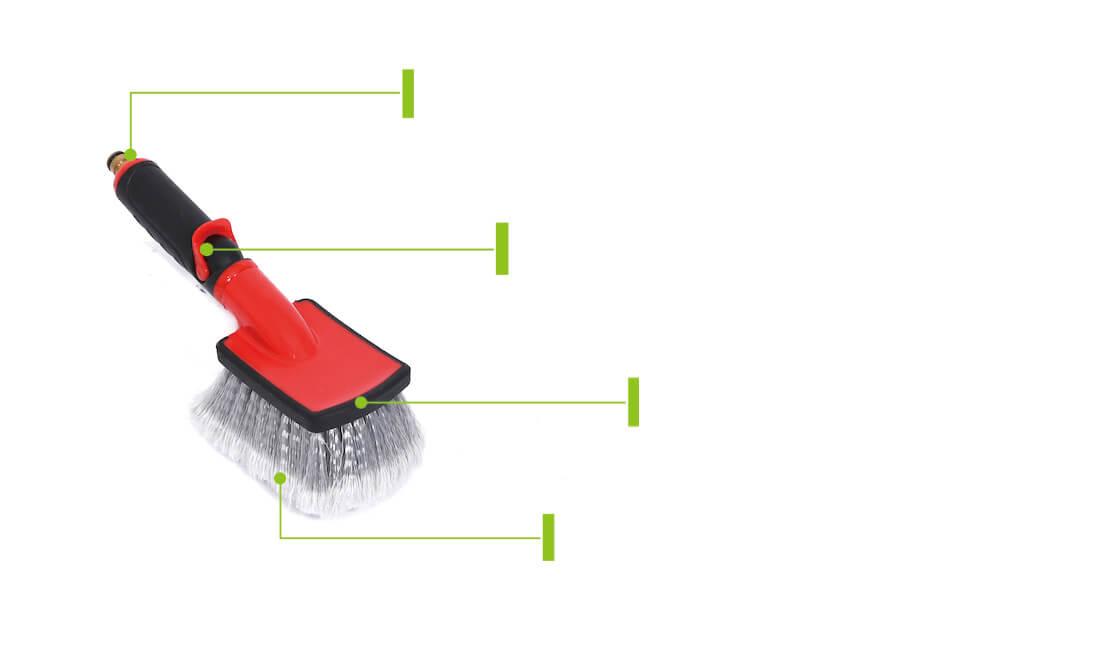 flow thru car wheel detailing brush