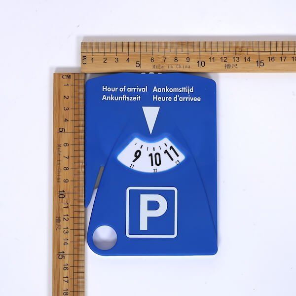 parking disc with shopping trolley chips