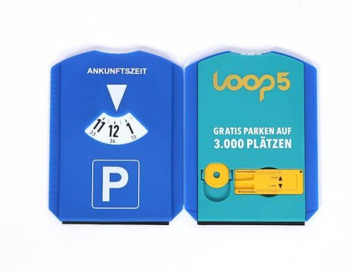 Car parking disc for promotion