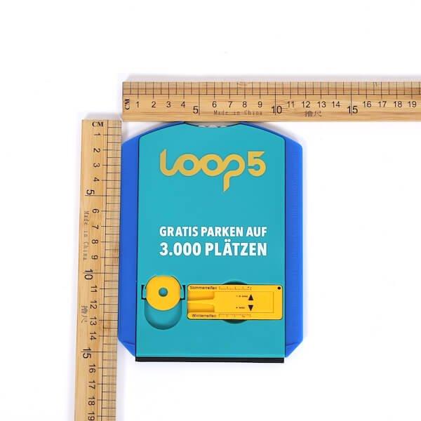 logo printed parking disc